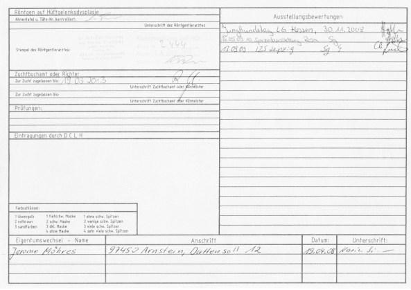 Stammbaum Laila Leonberger